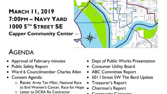February Anc March 2019 Calendar Advisory Neighborhood Commission 6D
